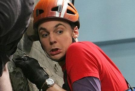 Sheldon Goes Rock Climbing