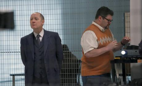 Red is ready for the show to start - The Blacklist Season 4 Episode 6
