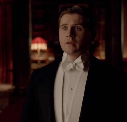 Tom dressed for dinner - Downton Abbey
