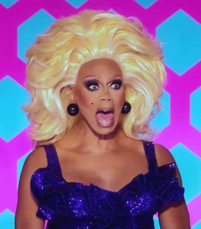 Shocked RuPaul - RuPaul's Drag Race All Stars Season 6 Episode 3