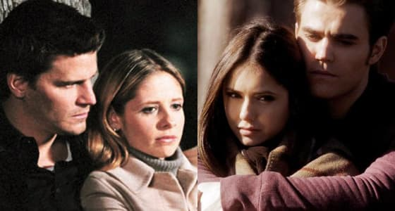 Angel and Buffy (Buffy the Vampire Slayer) & Stefan and Elena (The Vampire Diaries)