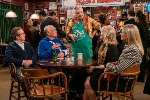 The Gang at Phil's - Murphy Brown Season 11 Episode 10