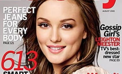 Leighton Meester Gets Lucky