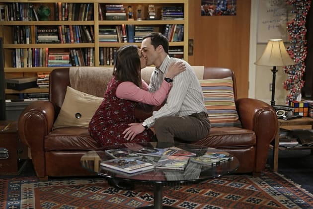 Amy and Sheldon KISS! - The Big Bang Theory Season 8 Episode 24