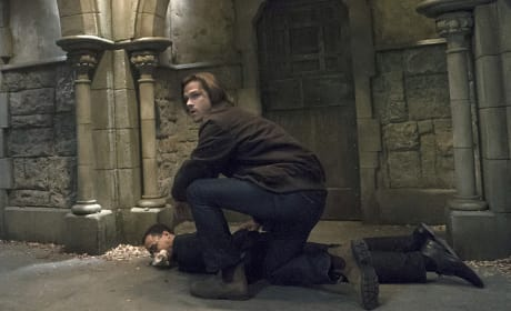 Sam taking down the bad guy - Supernatural Season 11 Episode 6