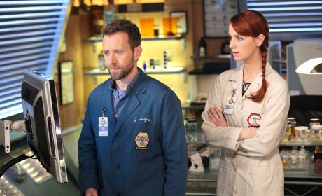 Hodgins and Warren Work Together - Bones Season 10 Episode 15