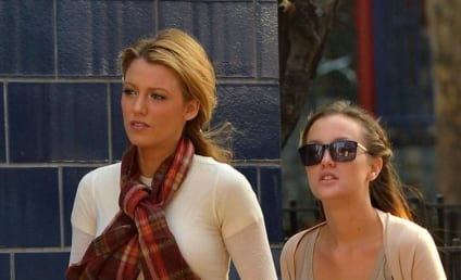 Leighton Meester, Blake Lively Roll to Work