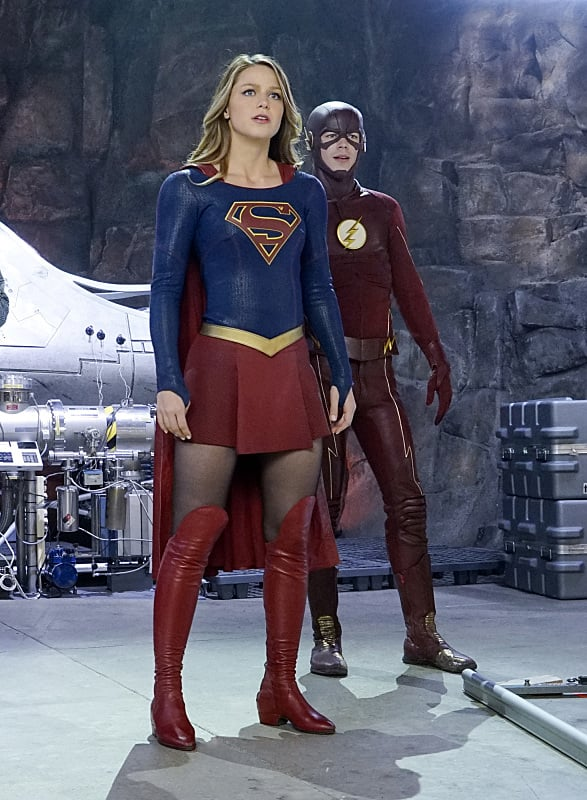 Supergirl and the flash team up
