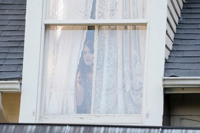 Liz takes a peek out the window - The Blacklist Season 4 Episode 2