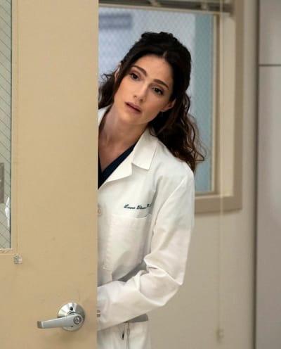 Lauren Peeks In - tall - New Amsterdam Season 3 Episode 13