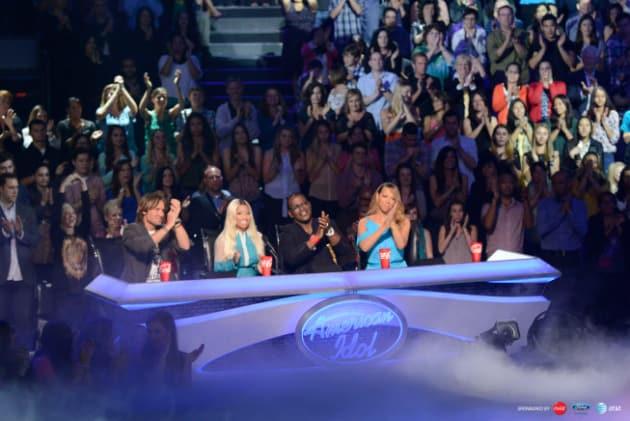Keith Urban, Nicki Minaj, Randy Jackson and Mariah Carey