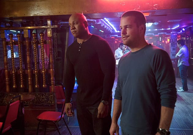 Sam and Callen in a Mexican Bar