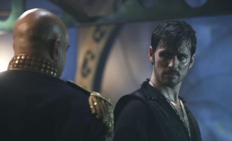 Hook Looks Confused - Once Upon a Time Season 6 Episode 6