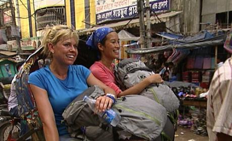 Nat and Kat Get a Rickshaw Ride