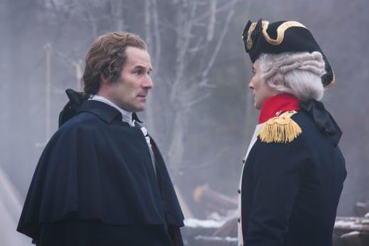 Washington greets the French