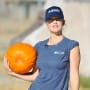 Minka Kelly with a Pumpkin
