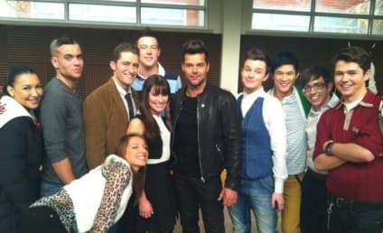 Ricky Martin on Glee Set: First Photo