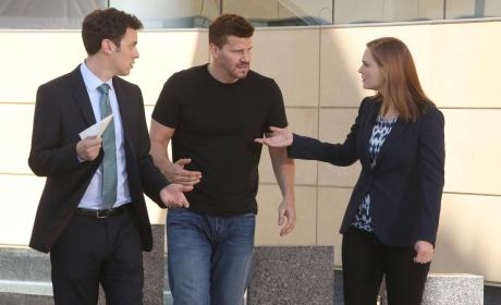 Booth, Brennan, and Sweets Decide How to Move Forward - Bones Season 10 Episode 1