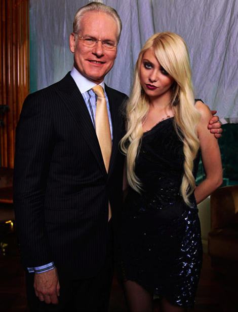 Taylor Momsen and Tim Gunn