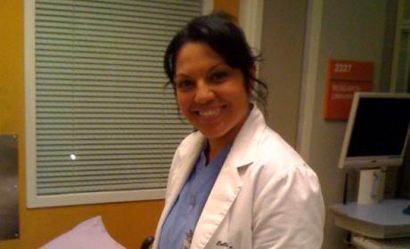 Sara Ramirez on Set