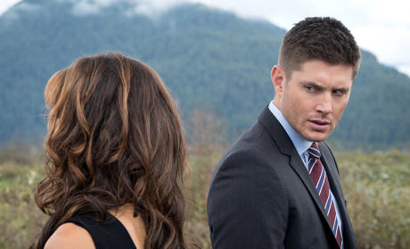 Dean giving the ultimate stare - Supernatural Season 11 Episode 9