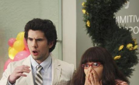 Betty and Matt Look in Horror