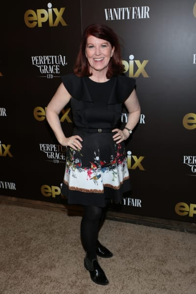 Kate Flannery Attends Premiere