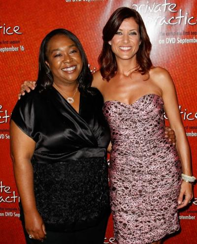 Kate Walsh and Shonda Rhimes