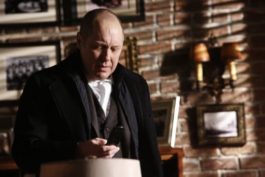 Red checks his phone - The Blacklist Season 4 Episode 15