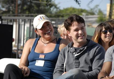 Sara Ramirez and T.R. Knight