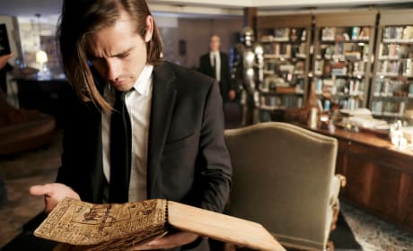 Quentin researches  - The Magicians