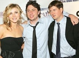 Sarah Chalke, Zach Braff and Bill Lawrence, Creator of Scrubs