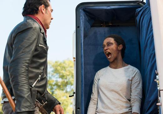 Sasha Attacks Negan - The Walking Dead Season 7 Episode 16