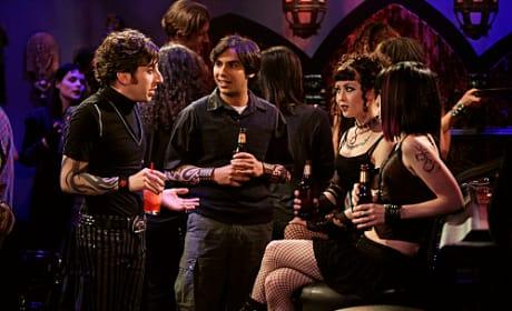 Raj and Wolowitz Go Goth