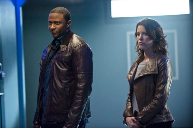 Diggle and Layla Look Serious