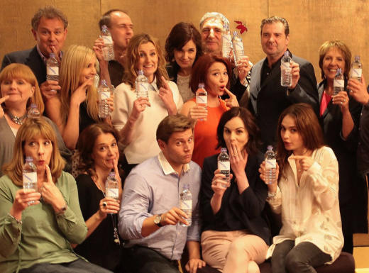 Downton Abbey with Water Bottles