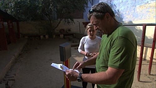 Mallory and Gary Read Their Clue