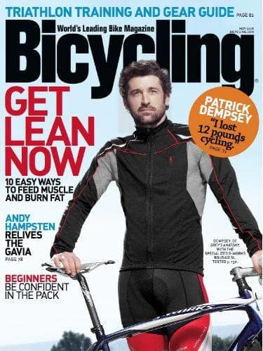 Patrick Dempsey in Bicycling