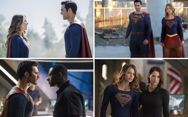Supergirl faces superman