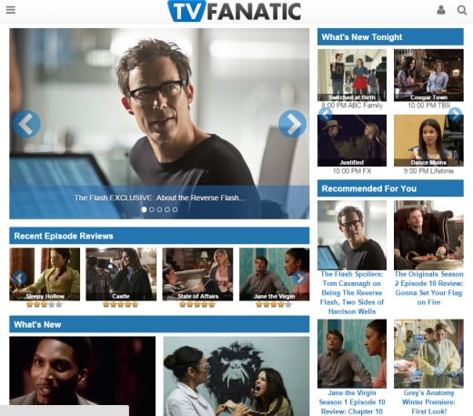 TV Fanatic New Layout