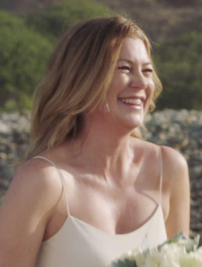 Wedding Dress on the Beach - tall  - Grey's Anatomy Season 17 Episode 13