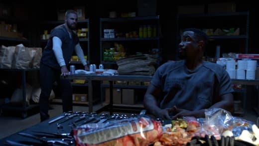 Oliver and Turner  - Arrow Season 7 Episode 7