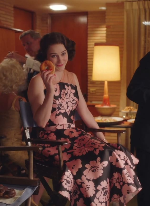 Donut in the Makeup Chair - The Marvelous Mrs. Maisel