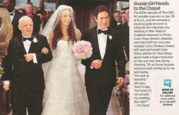 Gossip Girl Wedding Pic