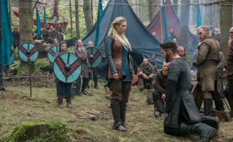 Heahmund Bows Down - Vikings Season 5 Episode 9