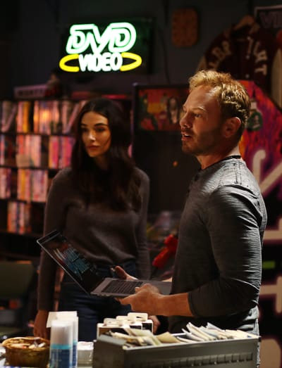 Ian Ziering and Crystal Reed on Swamp Thing
