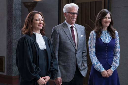Judge Gen, Michael, and Janet - The Good Place Season 2 Episode 13