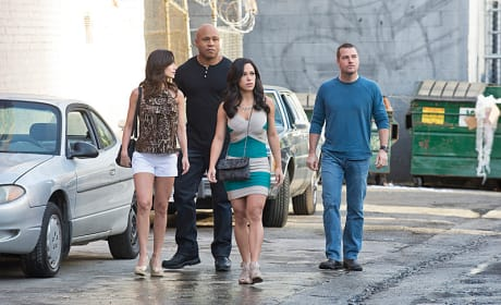 Sam and Callen with Martina and Rita
