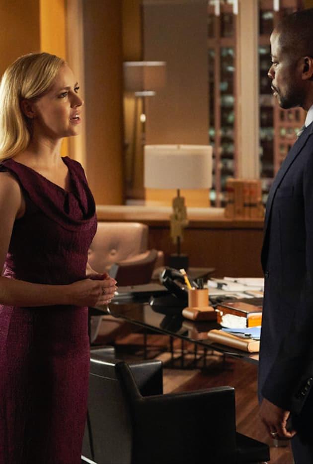 Katrina Quizzes Alex - Suits Season 8 Episode 11