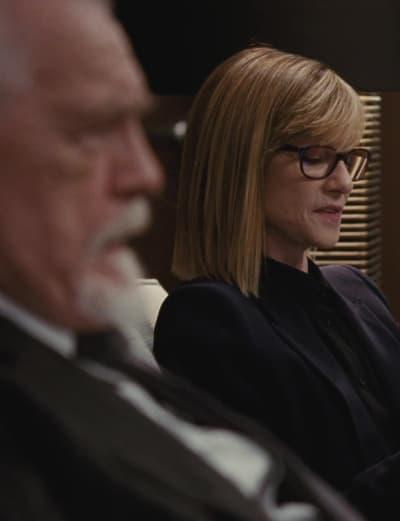 Holly Hunter as Rhea Jurell - Succession Season 2 Episode 4